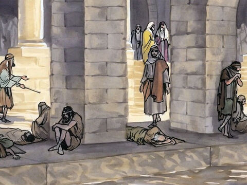 Jesus said to him, 'Stand up! Pick up your mat and walk.' – Slide 6