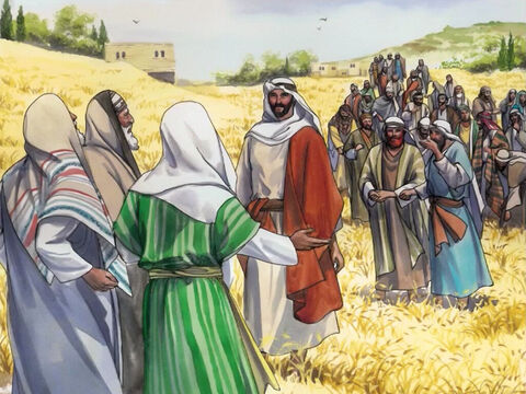 Jesus was going through the grain fields on a Sabbath… – Slide 1