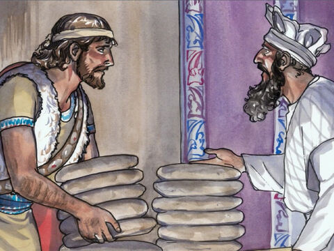 … took and ate the sacred bread, which is not lawful for any to eat but the priests alone, and gave it to his companions?' – Slide 5