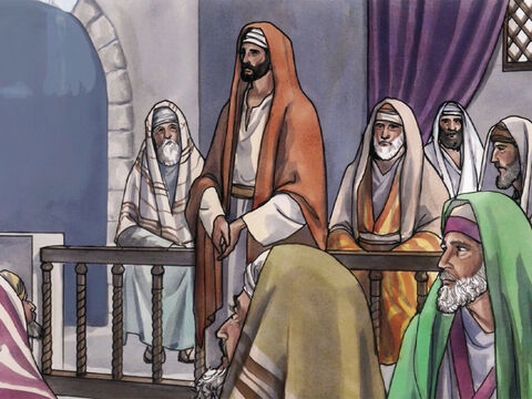 The experts in the law and the Pharisees watched Jesus closely to see if He would heal on the Sabbath, so that they could find a reason to accuse Him. – Slide 3