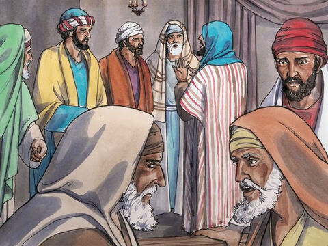 But they were filled with mindless rage and began debating with one another what they would do to Jesus. – Slide 8