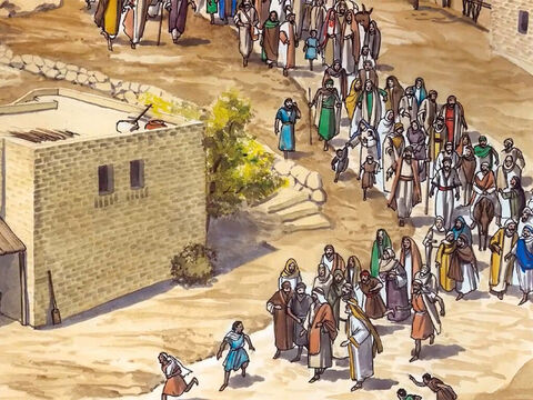 When Jesus saw the crowds coming to see Him, He went up into a mountain. – Slide 1
