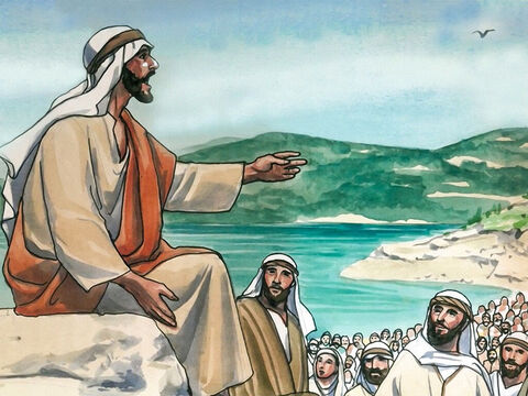 Jesus had gone up a mountain to teach His disciples. 'You have heard that it was said, 'Do not commit adultery.' Jesus said. – Slide 1