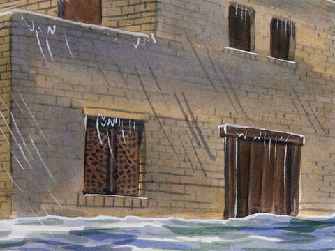 'The rain fell, the flood came, and the winds beat against that house, but it did not collapse because it had been founded on rock. – Slide 4