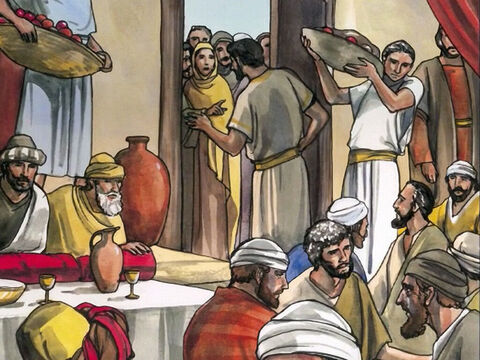 Now one of the Pharisees asked Jesus  to have dinner with him, so  He went into the Pharisee's house and took His place at the table. – Slide 1