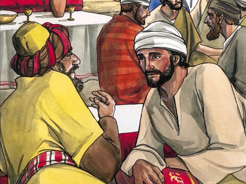 Now when the Pharisee who had invited him saw this, he said to himself, 'If this man were a prophet, He would know who and what kind of woman this is who is touching Him, that she is a sinner.'<br/>So Jesus answered him,  'Simon, I have something to say to you.' He replied, 'Say it, Teacher.' – Slide 5