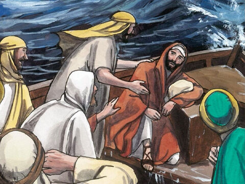 But Jesus replied, 'Why are you cowardly, you people of little faith?' – Slide 6