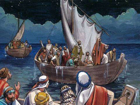Then Jesus got up and rebuked the winds and the sea and it was dead calm. – Slide 7