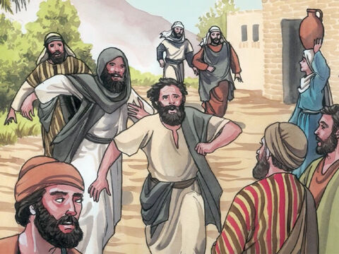 The herdsmen ran off, went into the town, and told everything that had happened to the demon-possessed men. – Slide 9