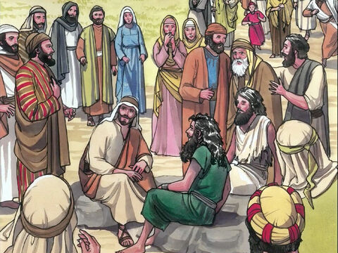 Then the entire town came out to meet Jesus. And when they saw Him, they begged Him to leave their region. – Slide 10