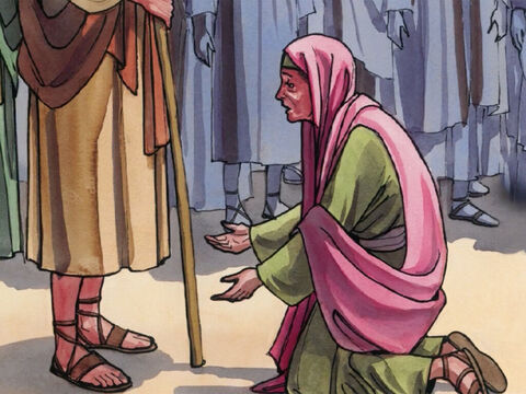 Then Jesus said to her, 'Daughter, your faith has made you well. Go in peace.' – Slide 9