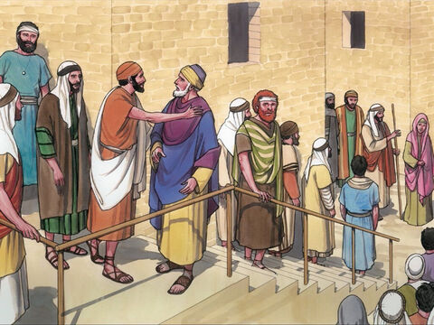 While He was still speaking, someone from the synagogue ruler's house came and said to Jairus … – Slide 10