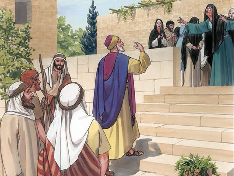 Now when He came to the house, Jesus did not let anyone go in with Him except Peter, John, and James, and the child's father and mother. – Slide 13