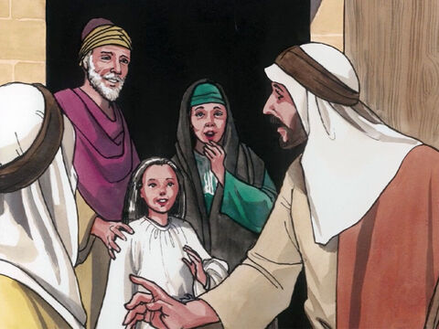 Her parents were astonished, but He ordered them to tell no one what had happened. – Slide 21