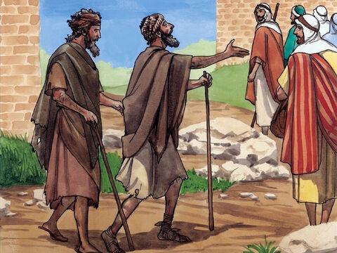 As Jesus went on from the house of Jairus in Capernaum, two blind men followed Him, shouting, 'Have mercy on us, Son of David!' – Slide 1
