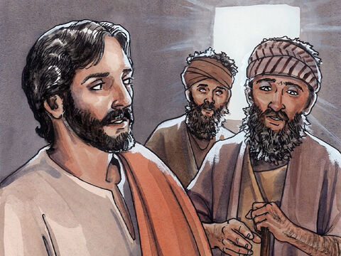 When Jesus went into the house, the blind men came to Him. Jesus said to them, 'Do you believe that I am able to do this?' They said to Him, 'Yes, Lord.' – Slide 2