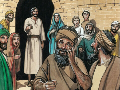 Then Jesus sternly warned them, 'See that no one knows about this.' But they went out and spread the news about Him throughout that entire region. – Slide 4