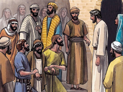 As they were going away, a man who could not talk and was demon-possessed was brought to Jesus. – Slide 5