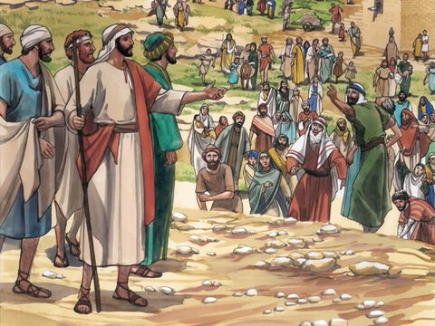 Then Jesus went throughout all the towns and villages, teaching in their synagogues … – Slide 1