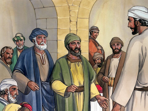 Then some of the experts in the law, along with some Pharisees, answered him, 'Teacher, we want to see a sign from you.' – Slide 4