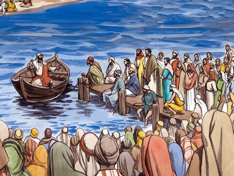 Jesus told the crowd listening on the shores of Lake Galilee another parable (the parable of the weeds): – Slide 1