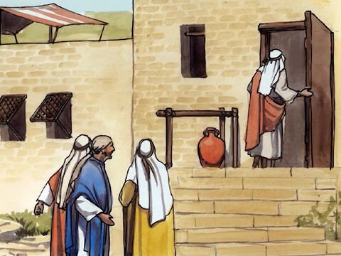 Then Jesus left the crowds and went into the house. – Slide 15