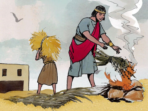 'As the weeds are collected and burned with fire, so it will be at the end of the age. – Slide 19