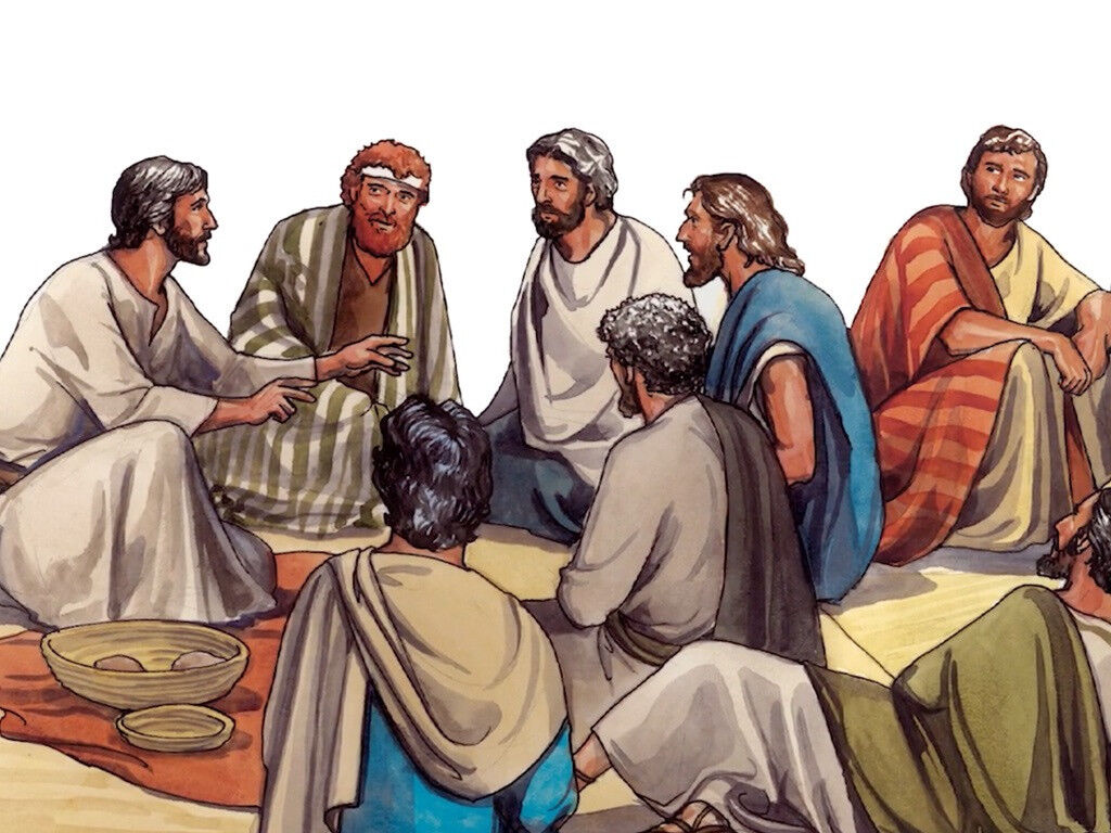 FreeBibleimages :: Twelve disciples sent out :: Jesus sends His disciples  out to preach repentance, heal and deliver people (Mark 6:7-13)