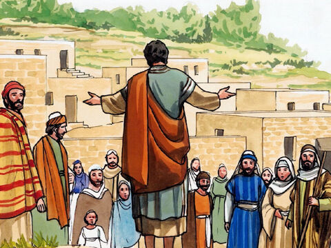 Jesus said to them, 'Wherever you enter a house, stay there until you leave the area. – Slide 4