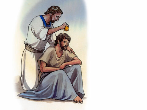 … and anointed many sick people with oil and healed them. – Slide 9