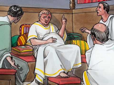 At that time Herod the tetrarch heard reports about Jesus, and he said to his servants … – Slide 1