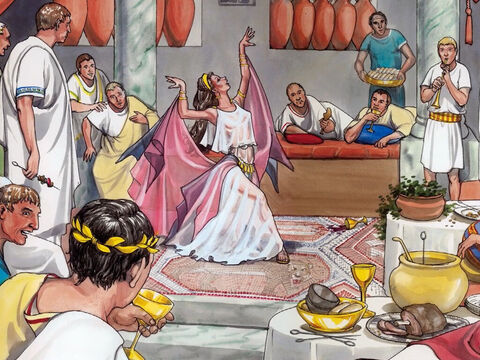 But on Herod's birthday, the daughter of Herodias danced before them … – Slide 6