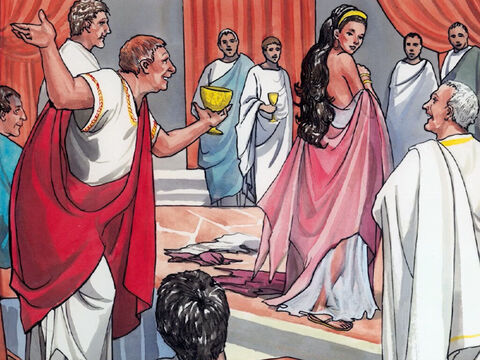 … and pleased Herod, so much that he promised with an oath to give her whatever she asked. – Slide 7