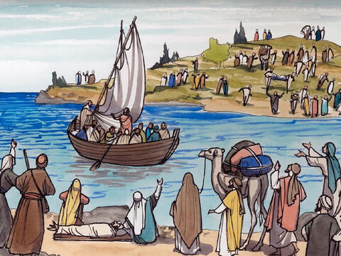 After this Jesus went away to the other side of the Sea of Galilee (also called the Sea of Tiberias). – Slide 1