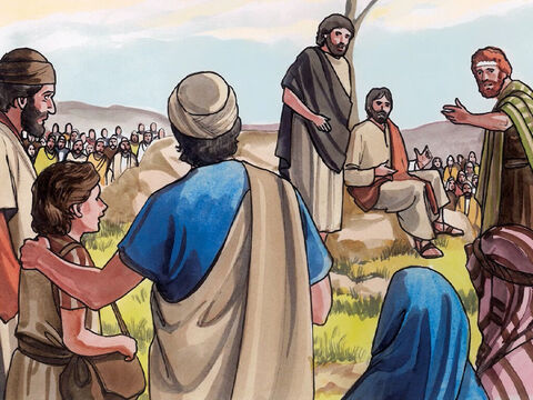 One of Jesus' disciples, Andrew, Simon Peter's brother, said to Him, 'Here is a boy who has five barley loaves and two fish, but what good are these for so many people?' – Slide 5