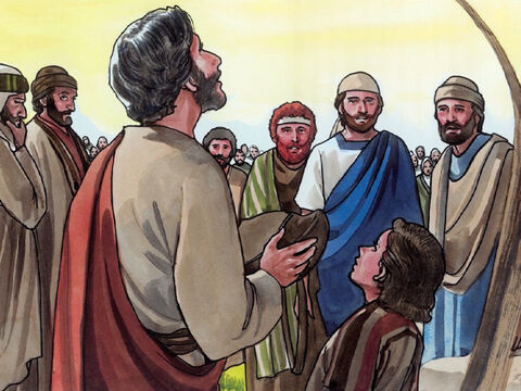 Then Jesus took the loaves, and when He had given thanks … – Slide 7