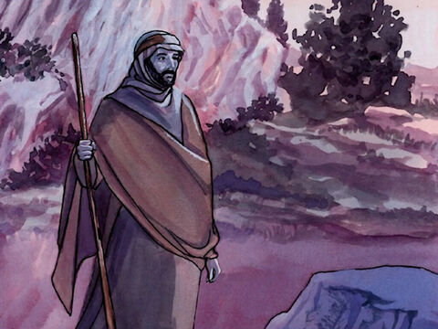 And after He sent the crowds away, He went up the mountain by Himself to pray. – Slide 2