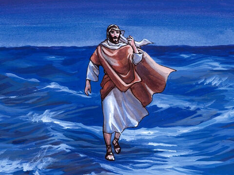 But immediately Jesus spoke to them: 'Have courage! It is I. Do not be afraid.' – Slide 5