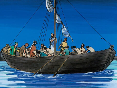 When they went up into the boat, the wind ceased. Then those who were in the boat worshiped Him, saying, 'Truly you are the Son of God.' – Slide 10