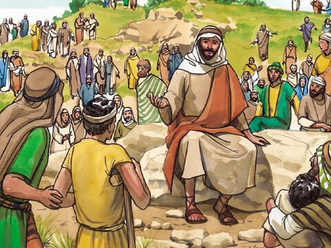 So Jesus called His disciples and said to them, 'I have compassion on the crowd, because they have already been here with me three days, and they have nothing to eat. If I send them home hungry, they will faint on the way, and some of them have come from a great distance.' – Slide 2
