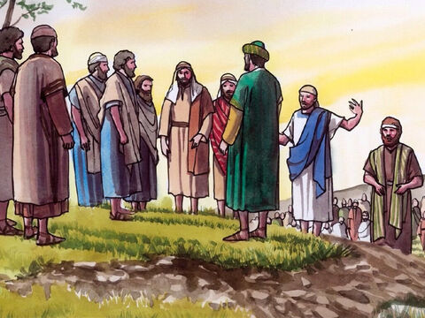 His disciples answered Him, 'Where can someone get enough bread in this desolate place to satisfy these people?' – Slide 3