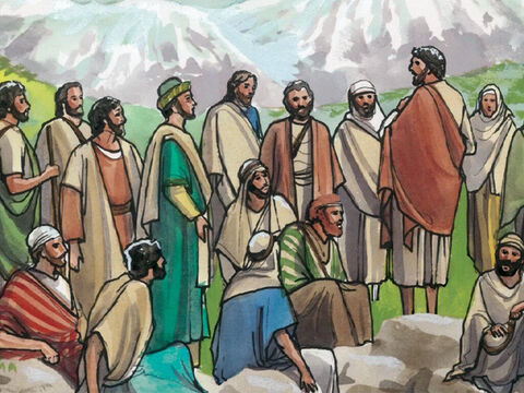 On the way He asked His disciples, 'Who do people say that I am?' – Slide 2