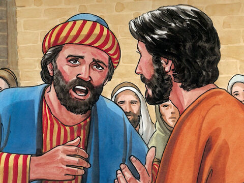 'I begged your disciples to cast it out, but they could not do so.'<br/>Jesus answered, 'You unbelieving and perverse generation! How much longer must I be with you and endure you? – Slide 5