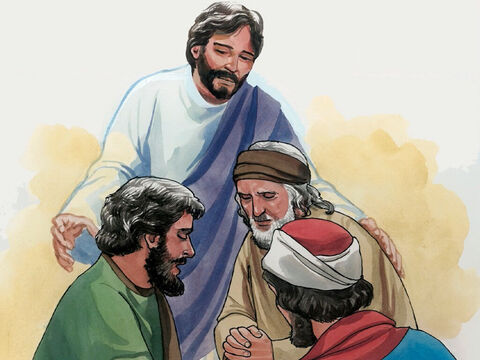 'Again, I tell you the truth, if two of you on earth agree about whatever you ask, my Father in heaven will do it for you. For where two or three are assembled in my name, I am there among them.' – Slide 5