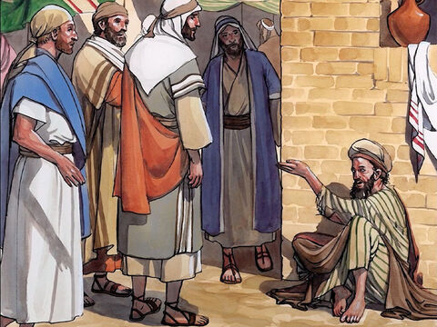Now as Jesus was passing by, He saw a man who had been blind from birth. His disciples asked Him, 'Rabbi, who committed the sin that caused him to be born blind, this or his parents?' – Slide 1