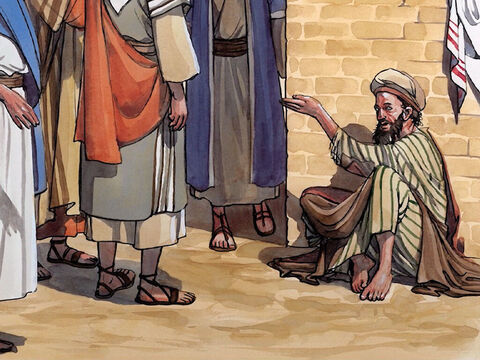 Jesus answered, 'Neither this man nor his parents sinned, but he was born blind so that the acts of God may be revealed through what happens to him. – Slide 2
