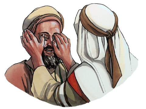 Having said this, Jesus spat on the ground and made some mud with the saliva. He smeared the mud on the blind man's eyes and said to him, 'Go wash in the pool of Siloam' (which is translated 'sent'). – Slide 4