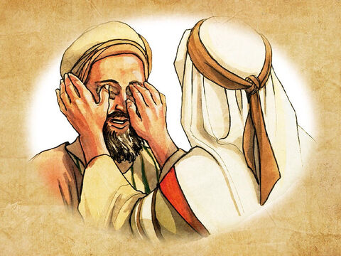 He replied. 'He put mud on my eyes and I washed, and now I am able to see.' – Slide 12