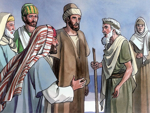 Now the Jewish religious leaders refused to believe that the blind man Jesus had healed had really been blind until they summoned his parents. They asked, 'Is this your son, whom you say was born blind? Then how does he now see?' <br/>So his parents replied, 'We know that this is our son and that he was born blind. But we do not know how he is now able to see, nor do we know who caused him to see. Ask him, he is a mature adult. He will speak for himself.' – Slide 1