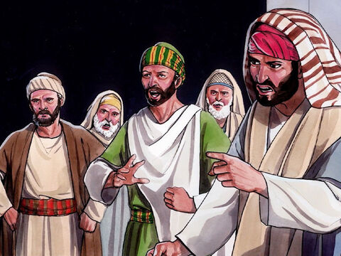 His parents said these things because they were afraid of the Jewish religious leaders.  For the Jewish leaders had already agreed that anyone who confessed Jesus to be the Christ would be put out of the synagogue. For this reason his parents said, 'He is a mature adult, ask him.' – Slide 2